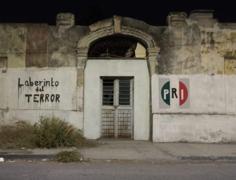 Muro de terror Pri en Cadereyta